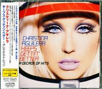 CHRISTINA AGUILERA-KEEPS GETTING BETTER - GREATEST HITS-JAPAN CD F37
