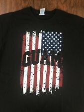 NWOT Guam USA AMERICAN FLAG T-SHIRT BLACK - Size XL X-LARGE