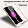 3D Curve Full Cover Metal 9H Temper Glass Screen Film Protector for iPhone 7 8 X