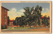 The Barracks, Louisiana State University, Baton Rouge LA - 1936 Linen Postcard