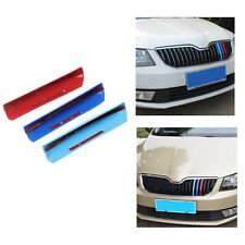 3D Car Front Grilles Trim Sport Strips Cover For Skoda Octavia A7 2015-2017