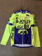 NALINI JOLLY COMPONIBILI 2 CLUB 88 CYCLING ZIP UP JACKET LONG SLEEVE YELLOW