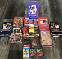 HUGE LOT OF UNOPENED Basketball WAX & FOIL PACKS 100+ CARDS NBA FREE SHIPPING!!!