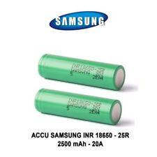 2 Batteries ACCU SAMSUNG INR 18650 25R 2500 mah