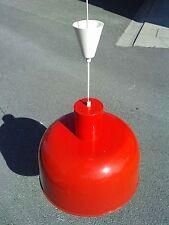 lustre design 70 metal rouge lampe style industrielle suspension lamp