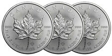 Lot de 3 pieces en argent Maple Leaf 1 once 1 oz silver