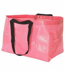 NEW IKEA Slukis Large Pink Reusable Laundry Tote Shopping Bag Limited Edition