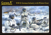 Caesar Miniatures H005 WWII German Infantry with Winter Gear 1/72 Scale Figures