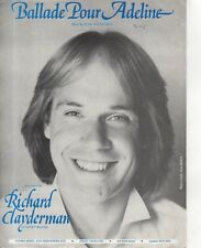 "Partituras - ""Ballade pour Adeline"" - grabado por Richard Clayderman (1979)"