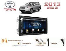 2013 TOYOTA HIGHLANDER CAR STEREO KIT, BLUETOOTH TOUCHSCREEN DVD USB