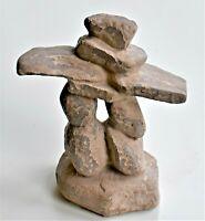 Inukshuk Eskimo Art Stone Carving Canada 10cm tall