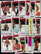 1976 Topps Team SET Lot of 20 Chicago BLACK HAWKS NM- Bobby ORR MIKITA ESPO