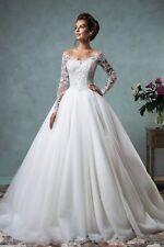 2017 White/Ivory Lace Wedding Dress Bridal Gown Custom Size 2 4 6 8 10 12 14++++