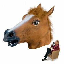 Horse Head Mask Full Face Latex Animal Party Mask Masquerade Christmas Mask