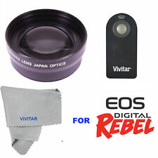 2.2x Telephoto Zoom Lens + REMOTE CONTROL for Canon Rebel EOS T1 T2 T3 T4 T5 T6