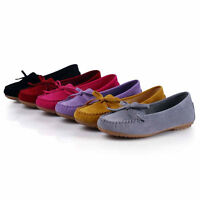 Women's Flats Shoes Suede Lazy Peas Ballet Casual Loafers Lady Slip On Comfy