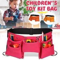 Kids Toys Tool Waist Bag Children Belt Storage Pouch For Role Play Garden