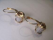 Gorgeous Estate 14K Yellow Gold Diamond Bucket Earrings
