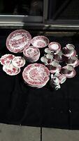 Rare Find 42 Pcs Romantic England J & G Meakin English Ironstone Dinnerware Set