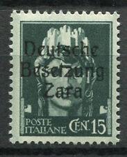 Zara 1943 Sass. 3 Nuovo ** 100% Soprastampato 15 cent.
