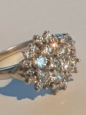 Silver Diamonique QVC Ring Size Q
