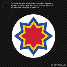 "4"" Moldovan Air Force Roundel Sticker Die Cut Decal Moldova MDA MD"
