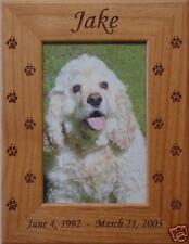 Engraved Photo Frame Pet Memorial (4x6 Photo)