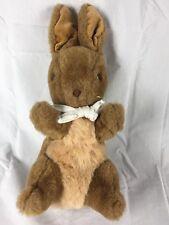 "Vintage Eden Peter Rabbit Plush Stuffed Animal Brown Bunny 11"""