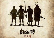 Stampa incorniciata-giapponese BUSHIDO Guerrieri (PICTURE Asiatico Orientale Samurai ART)