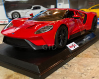 2017 FORD GT RED Sports/Race Car Maisto 1:18 Diecast Metal Model Collectible NEW