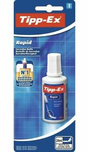 Tipp-Ex Rapid Top-Quality Opaque And Clean Correction Bottle of 20m bottle