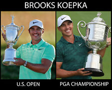 Brooks Koepka - 2018 US Open & PGA Championship, 8x10 Color Photo