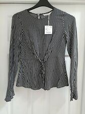 Size Xs Ladies Striped Top With Front Tie Bnwt From Zara