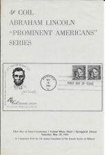#1303-C1 FD Program 4c Abraham Lincoln Coil Stamp w/FDC and Picture