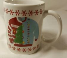 Ugly Sweater Coffee Mug  MSRF Inc. Design Studio Sweater Red Snowflakes