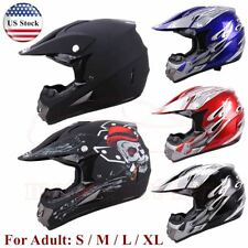 DOT Adult Motocross ATV Dirt Bike MX Off Road Helmet Full Face BMX Racing SML XL