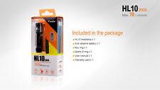 2016 Fenix HL10 Mini Head Torch Headlamp Waterproof (IPX8) 70 lumens