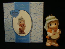 za Precious Moments-Little Nativity Shepherd Drummer Boy Ornament-Very Rare!!