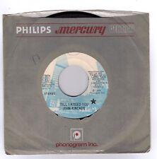KINCADE, John  (Till I Kissed You)  Mercury 73604 = PROMOTIONAL record