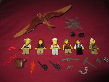 LEGO Dinosaur DINO Pteranodon, Pterodactyl ,Minifigures Lot,Weapons Extras