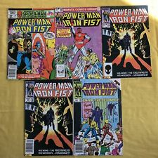 Lot of 5 Power Man and Iron Fist (1972 Hero for Hire) #76 96 109 121 FN Fine