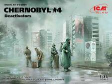 ICM 1/35 scale model kit Chernobyl #4 Deactivators (4 figures) ICM35904