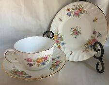 Minton English Bone China Marlow Pattern Cup Saucer And Bread Plate s-309