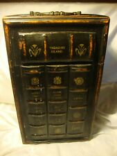 Three Hands Corp Faux Book Box Decorative Wood Container Antique Style XL   388