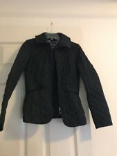 Tommy Hilfiger Women's Black Quilted Full Zip Light Jacket Size S