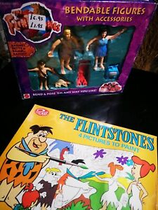 The Flintstones philmar 1977 paint by numbers and bendable figures Barney, Betty