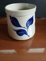 3 inch Williamsburg Pottery Salt Glaze Stoneware Crock Cobalt