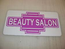 Lavender BEAUTY SALON Metal Sign 50s Retro Vintage Style Art Deco Hair Parlor