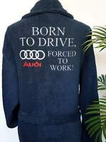 Personalised AUDI Fan Terry 100% Cotton Bathrobe Dressing Gown GIFT ANY LOGO!