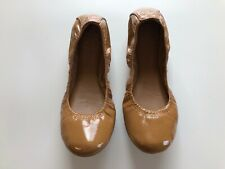 Tory Burch Women's Flats Brown Round Toe Flat Size 6.5 M 6 1/2 Patent Leather